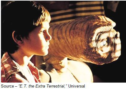 """""""I don't think he was left here intentionally, but his being here is a miracle, Elliot. It's a miracle and you did the best that anybody could do. I'm glad he met you first."""" – E.T. the Extra Terrestrial,"""" Universal, 1982"""
