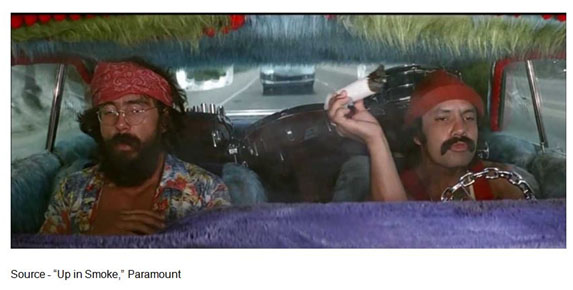 """I hope you're not busy for about a month..."" – Man Stoner, ""Up in Smoke,"" Paramount, 1978"