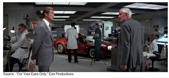 """""""I'm afraid we have to inform the Prime Minister that Operation Undertow is dead in the water. Why... she'll have our guts for garters!"""" – Frderick Gray, """"For Your Eyes Only,"""" Eon Productions, 1981"""