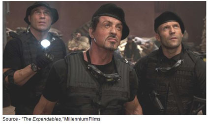 """""""If you don't want that Fu Manchu knocked back into the '60s, you'd better keep your gum-chewing trap shut and show some respect!"""" – Gunnar Jensen, """"The Expendables,"""" Millennium Films, 2010"""
