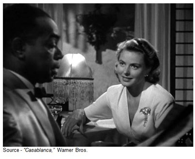 """Play it once, Sam. For old times' sake. Play it, Sam. Play ""As Time Goes By."" – Ilsa, ""Casablanca,"" Warner Bros., 1942"