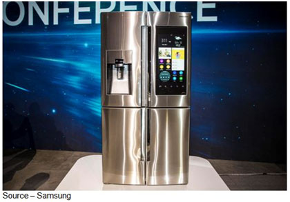 Cool Brain – With the kitchen being the center of most home life, Samsung unveiled a new refrigerator that designed to be the center of the center that captures all of the stuff going on in the kitchen. The company also advanced the idea of the TV set being the control center for your new smart home.
