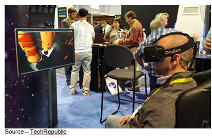 My Own World – VR goggles were the hit of the show during CES, giving you new places to go, new things to see/experience all while sitting or standing around. It could be the way you attend trade shows in the future.