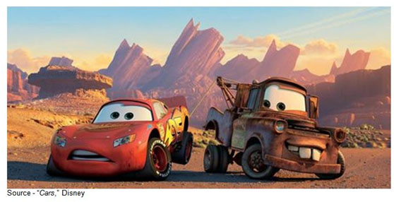 """""""That driving backwards. It's creeping me out. You're gonna wreck or something."""" – Lightning McQueen, """"Cars,"""" Disney, 2006"""