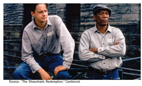 """""""Get busy living, or get busy dying."""" - Andy Dufresne – """"The Shawshank Redemption,"""" Castlerock, 1994"""