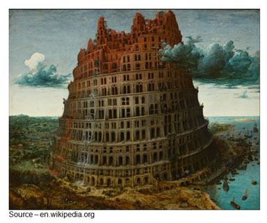 Tower of Babel – Corporate goals can be clearly developed by senior management but there will always be some managers who interpret the message as blanket approval to establish and grow their own fiefdom. The message has to be interpreted to them in a way that helps them understand that they are part of a team