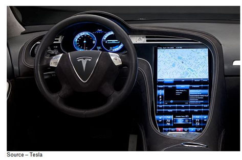 Real Infotainment – Designed from the inside out and top down, the Tesla Model S has a comprehensive infotainment system that will make any tech whiz want to stay in his/her car for days. The vehicle's brain monitors literally everything in and around the car. Software and apps can be offered and delivered over the air and updates can be made automatically while you sleep.