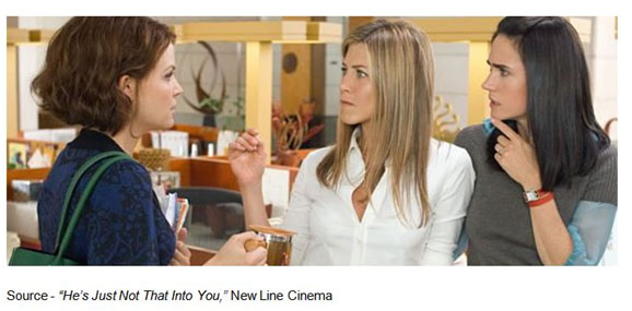 """Now you just have to go around checking all these different portals just to get rejected by seven different technologies. It's exhausting."" – Mary, ""He's Just Not That Into You,"" New Line Cinema, 2009"