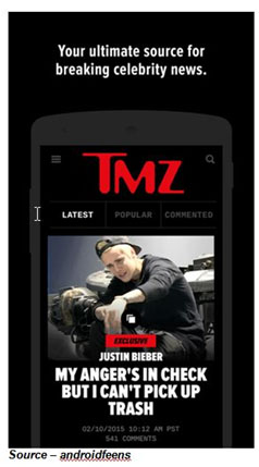 1st Choice – In our constantly connected world, the smartphone screen has become the screen of choice for people to keep track of what's really important in a digested form. Want to know the celebrity scoop? Nothing beats TMZ and a few other apps that keep you abreast of what's important to you.