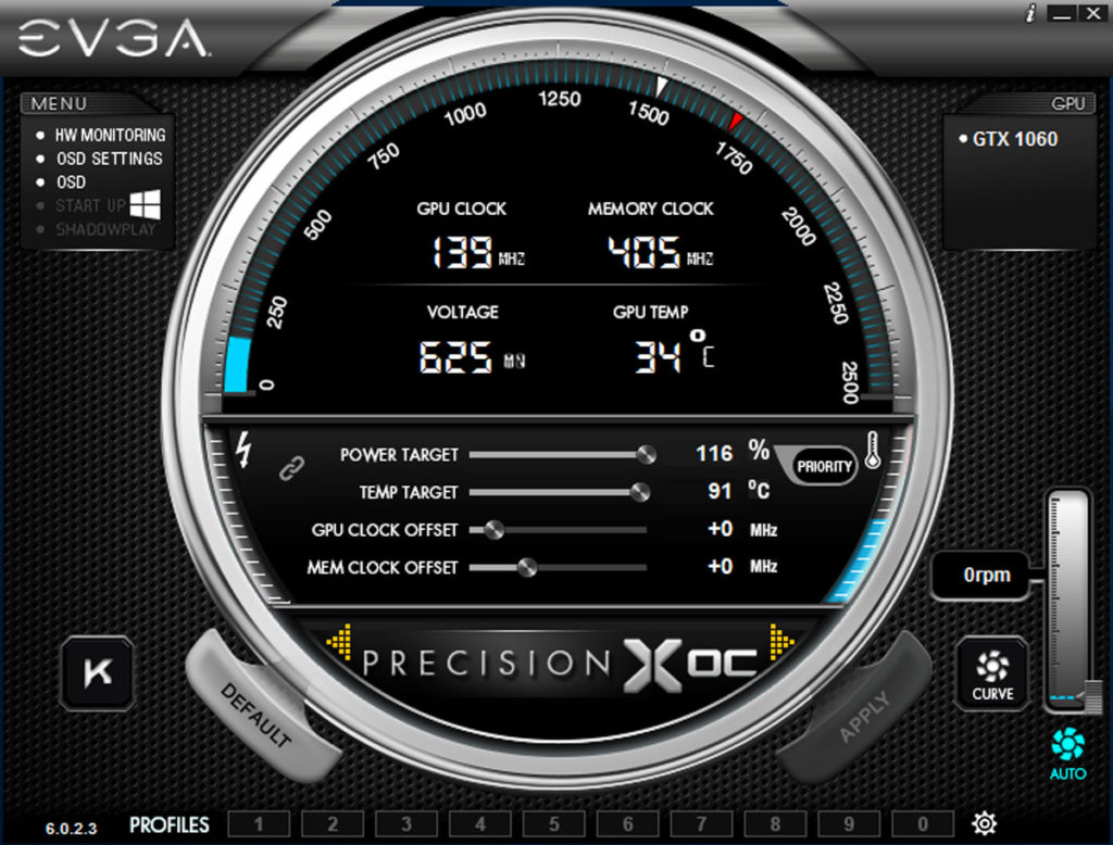 PrecisionX OC -max temp-power