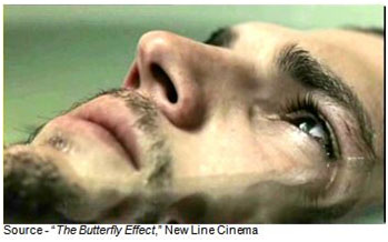 """""""Let's just say you're being closely watched."""" – Evan at 7, """"The Butterfly Effect,"""" New Line Cinema, 2004"""