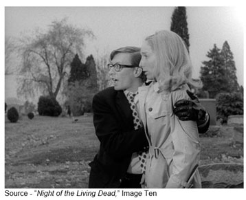 "They're coming to get you, Barbara, there's one of them now!"" – Johnny, ""Night of the Living Dead,"" Image Ten, 1968"