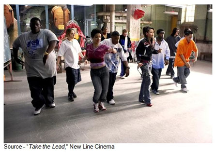 """R""""To do something, anything, is hard. It's much easier to blame your father, your mother, the environment, the government, the lack of money; but even if you find a place to assign the blame, it doesn't make the problems go away."""" – Pierre Dulaine, """"Take the Lead,"""" New Line Cinema, 2006"""