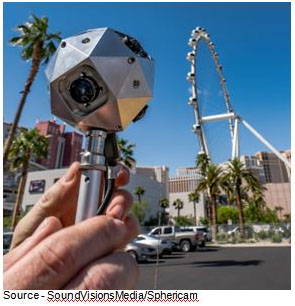 "New Toy – Krieger couldn't wait to try out his new ""toy"" and had his wife drive him around Las Vegas slowly so he was able to shoot a VR short film of the city by day. Even for those who have to visit the city for mind/feet numbing tradeshows, it can (almost) be a fun experience when captured in VR."